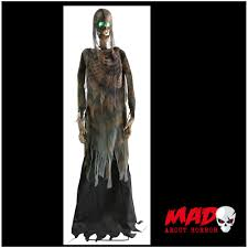 Halloween Skeleton Prop by 6ft Twitching Corpse Animated Zombie Moving Halloween Decoration