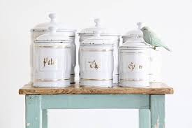 enamel kitchen canisters vintage enamel kitchen canisters white awesome