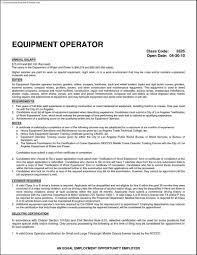 Power Resume Format Heavy Equipment Operator Resume Template Free Samples Examples