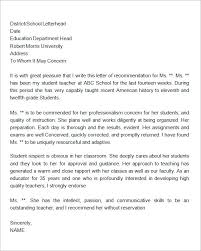 bunch ideas of sample personal reference letter for teacher on