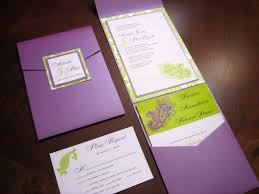 purple wedding invitation kits wedding invitations simple orange and purple wedding invitations