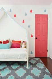 a bright closet door u0026 some playful painted raindrops young