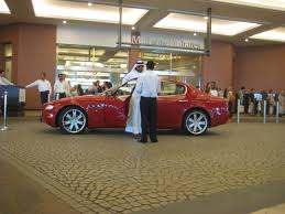 maserati dubai red maserati quattroporte at mall of emirates 2 madwhips
