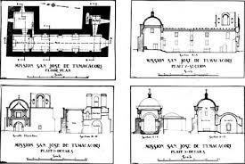 mission san jose floor plan tumacacori s yesterdays tumacacori as a national monument