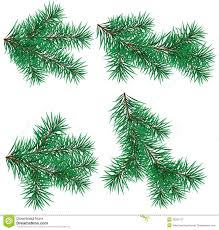 branch christmas tree clipart