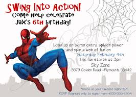 spiderman birthday invitations free printable spiderman
