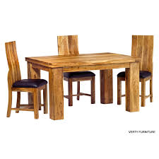 Dining Table India Acacia Dining Table Small With 4 Chairs Verty Indian Furniture