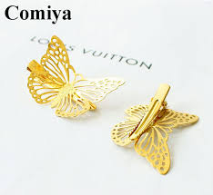 gold hair accessories 2pcs european and american trade jewelry sell hairpins