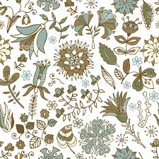 vintage seamless pattern flowers background in provence style