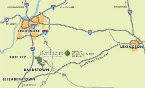 kentucky map bardstown bernheim forest directions map tower information