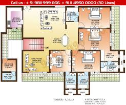 Floor Plan La by Floor Plan Parsvnath La Tropicana