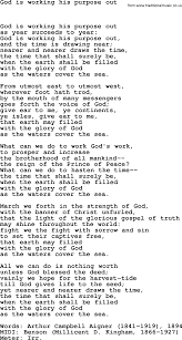 Common The Light Lyrics Book Of Common Praise Song God Is Working His Purpose Out Lyrics