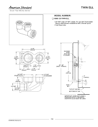 american standard twin ell 8888 120 user manual 1 page