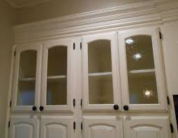 Kitchen Cabinet With Glass Doors Fabulous White Kitchen Cabinet With Textured Glass Doors Wood Home