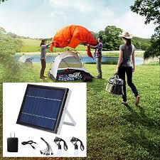 6v 5w solar panel solar system 3 led light usb charger for indoor