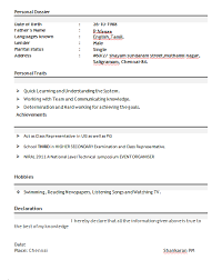 Sample Resume For Mba Finance Freshers by Professional Resume Format For Freshers