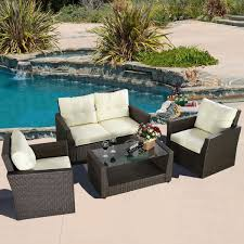 Woven Patio Chair Convenience Boutique Outdoor Wicker Rattan Patio Furniture Set