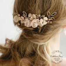 gold hair accessories gold hair comb blush pink wedding bridal accessories south