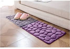 Bathroom Memory Foam Rugs Coral Fleece Bathroom Memory Foam Rug Kit Toilet Pattern Bath Non