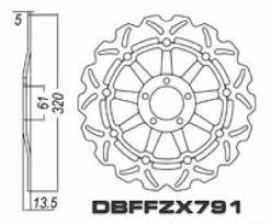 front brake disc kawasaki zx 12r zx12 zx12r ninja 00 03 00 03 stopp