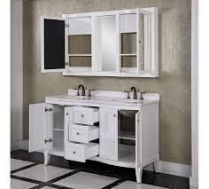 60 Inch Bathroom Vanity Double Sink by Accos 60 Inch White Double Bathroom Vanity Cabinet With Medicine