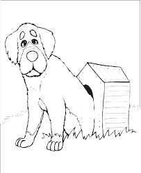 dog house coloring pages dog coloring pages big dog sitting by his doghouse lots of great