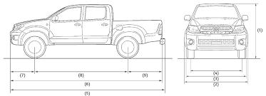 2014 toyota tacoma dimensions toyota hilux dimensions car models