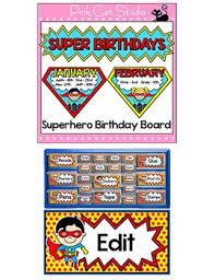 birthday board theme classroom decor bundle part 2 clip charts birthday board etc
