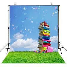 graduation vinyl kids photography backdrops books cloth vinyl backdrop for