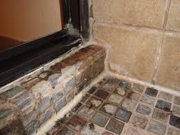Leaking Shower Door Leaky Shower Door With Slate Tile Terry Plumbing Remodel