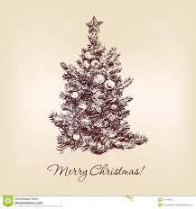 fashioned christmas tree fashioned christmas tree drawing merry christmas happy new