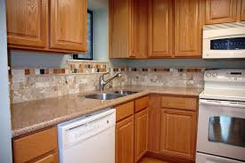 White Kitchen Cabinets And White Appliances by Kitchen Backsplash With Oak Cabinets And White Appliances U2014 The