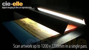 large bed scanner cruse flatbed artwork large format scanning service youtube
