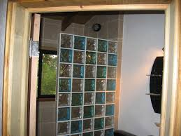 glass block bathroom ideas half wall glass block shower search master bathroom