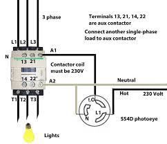 to wire motor control contactor