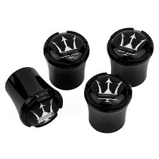 maserati black amazon com maserati black tire valve stem caps black logo usa