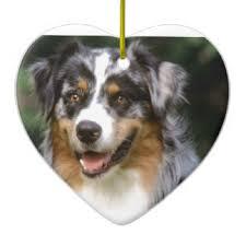 australian shepherd ornament heart shaped bff ceramic decorations heart shaped bff tree