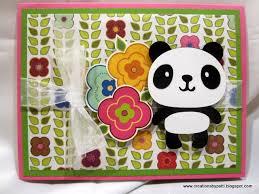 creations by patti panda pop up happy birthday card