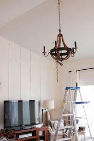 living room wood chandelier the wood grain cottage