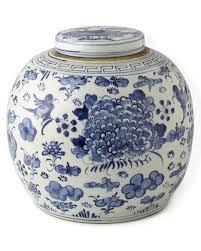 white ginger jar l blue white swallows flowers ancestor jar l jars vases