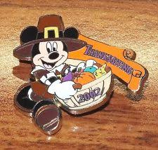 mickey mouse thanksgiving pin ebay