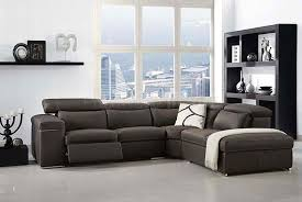 Cocoa Brown Top Grain Italian Leather Traditional Sectional Sofa