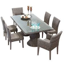 Wicker Patio Dining Chairs Tkc Cape Cod 7 Piece Wicker Patio Dining Set In Vintage Stone