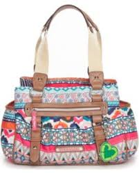 Lily Bloom Sweet Deal On Lily Bloom Tribal Stripe Landon Triple Section Satchel