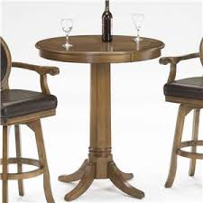Pedestal Bar Table Single Pedestal Game Table With Reversible Top By Hillsdale Wolf
