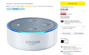 black friday deals on amazon dot deal alert get a second generation amazon echo dot for only 40