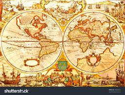 antique map world world antique map antique map world stock photo 46829242