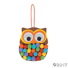 pom owl ornament craft kit