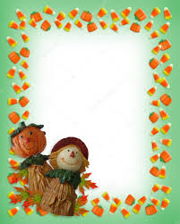 halloween border pumpkin scarecrow u2014 stock photo irisangel 2142727
