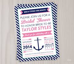 make your own bridal shower invitations nautical bridal shower invitation printable anchor invite